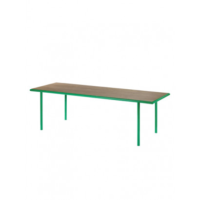 WOODEN TABLE RECTANGULAR GREEN / WALNUT Muller Van Severen