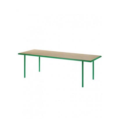 WOODEN TABLE RECTANGULAR GREEN / OAK Muller Van Severen