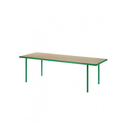WOODEN TABLE RECTANGULAR GREEN / OAK Muller Van Severen
