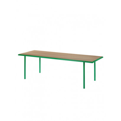 WOODEN TABLE RECTANGULAR GREEN / CHERRY Muller Van Severen