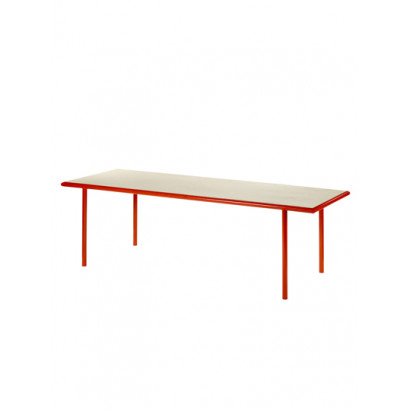WOODEN TABLE RECTANGULAR RED / BIRCH Muller Van Severen