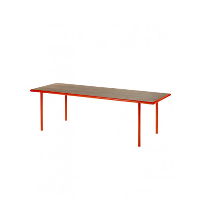 WOODEN TABLE RECTANGULAR RED / WALNUT Muller Van Severen