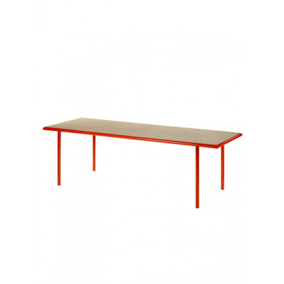 WOODEN TABLE RECTANGULAR RED / OAK Muller Van Severen