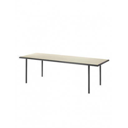 WOODEN TABLE RECTANGULAR BLACK / BIRCH Muller Van Severen
