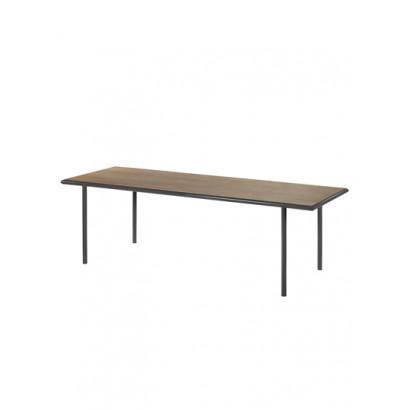WOODEN TABLE RECTANGULAR BLACK / WALNUT XL Muller Van Severen