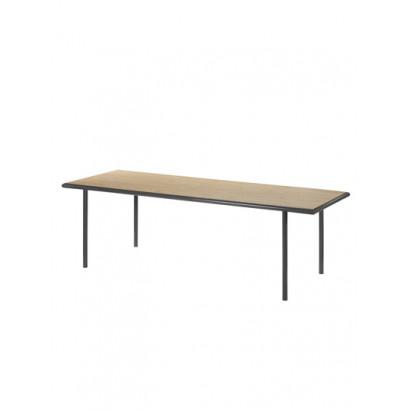 WOODEN TABLE RECTANGULAR BLACK / OAK Muller Van Severen