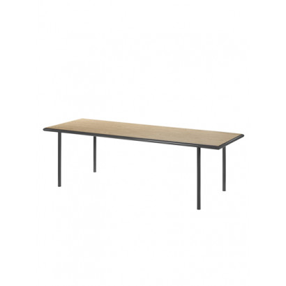 WOODEN TABLE RECTANGULAR BLACK / OAK XL Muller Van Severen