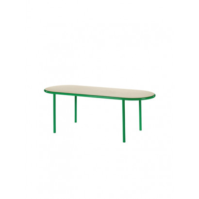 WOODEN TABLE OVAL GREEN / BIRCH Muller Van Severen