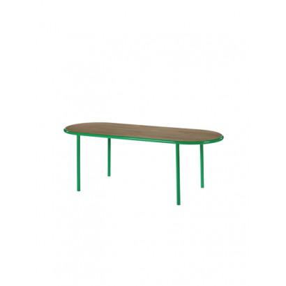 WOODEN TABLE OVAL GREEN / WALNUT Muller Van Severen