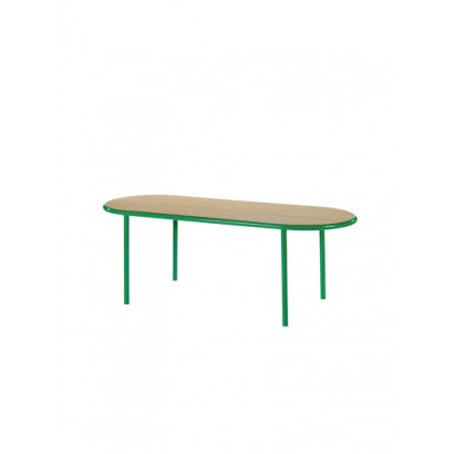WOODEN TABLE OVAL GREEN / OAK Muller Van Severen