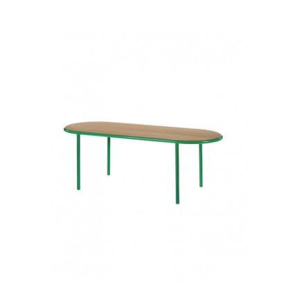 WOODEN TABLE OVAL GREEN / CHERRY Muller Van Severen