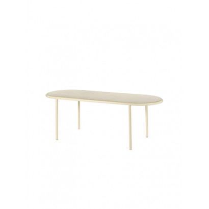 WOODEN TABLE OVAL IVORY / BIRCH Muller Van Severen
