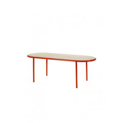 WOODEN TABLE OVAL RED / BIRCH Muller Van Severen
