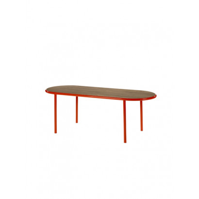 WOODEN TABLE OVAL RED / WALNUT Muller Van Severen