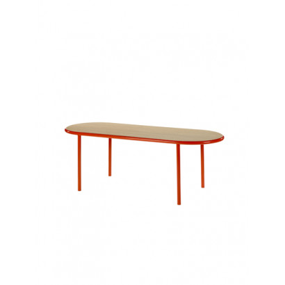 WOODEN TABLE OVAL RED / OAK Muller Van Severen