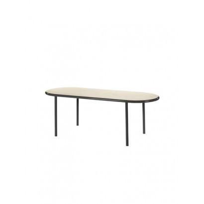 WOODEN TABLE OVAL BLACK / BIRCH Muller Van Severen