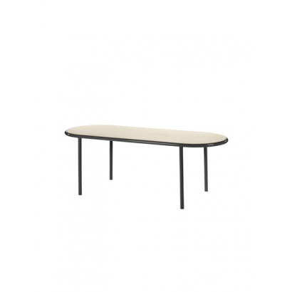WOODEN TABLE OVAL BLACK / BIRCH Muller Van Severen