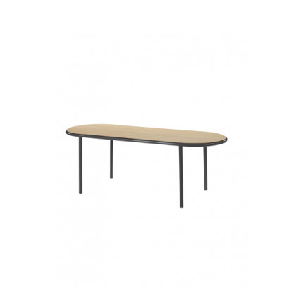 WOODEN TABLE OVAL BLACK / OAK Muller Van Severen