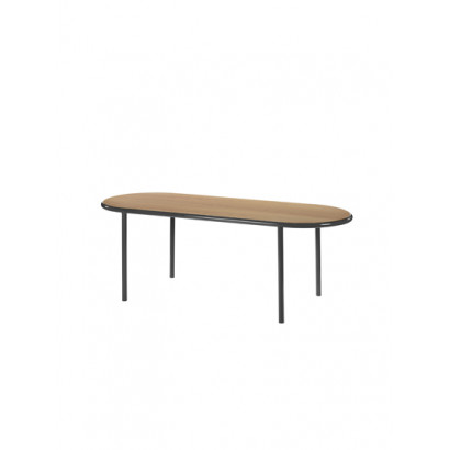 WOODEN TABLE OVAL BLACK / CHERRY Muller Van Severen