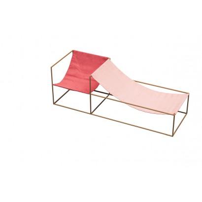 SEAT RED/PINK 180X60 H61 MUSTARD FRAME/TEXTILE Muller Van Severen