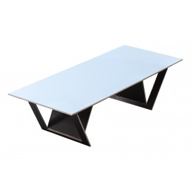 ta tisch blue side edge Robbrecht en Daem architecten
