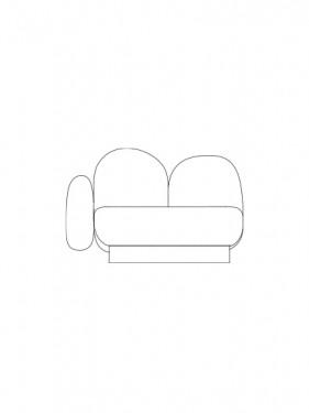 1-seat-sofa with 1 armrest left gijon grey Destroyers Builders