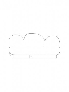 2-seat-sofa without armrest senales grey Destroyers Builders