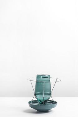 hidden vase small dark green Chris Kabel