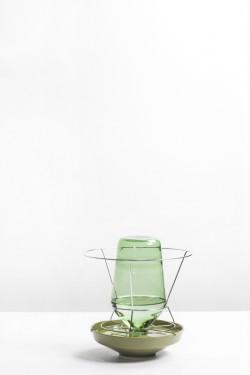 HIDDEN VASE SMALL GREEN D29 H31 Chris Kabel