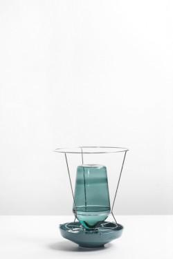 hidden vase large dark green Chris Kabel