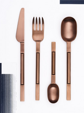 TABLE FORK COPPER BRUSHED KOICHI No