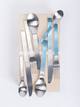 giftbox muller van severen brushed stainless, blue and steel 16 pcs Muller Van Severen