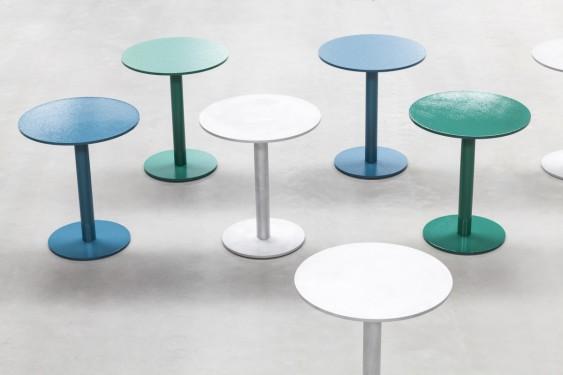 round table S hammerpaint blue Muller Van Severen
