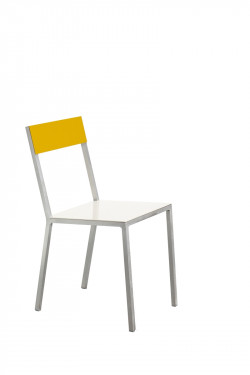 alu chair white_yellow Muller Van Severen