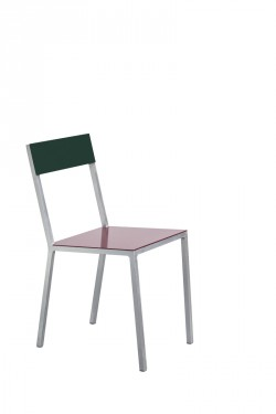 alu chair burgundy_candy green Muller Van Severen