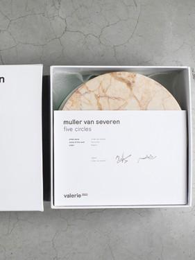 FIVE CIRCLES D21 H10 SET/5 A MARMER BRUIN WIT/LB-PI-GR Muller Van Severen