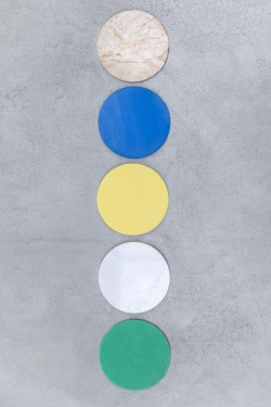 FIVE CIRCLES D21 H10 SET/5 D MARMER ROZE WIT/BL-YE-GR Muller Van Severen