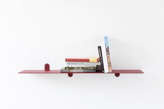 SCHAP N°3 MVS BENDED STEEL 4MM - 148X25X12 ROOD GELAKT Muller Van Severen