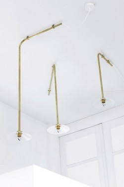 CEILING LAMP N°3 BRASS Muller Van Severen