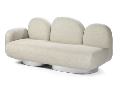 2-seat-sofa with 1 armrest left gijon sand Destroyers Builders
