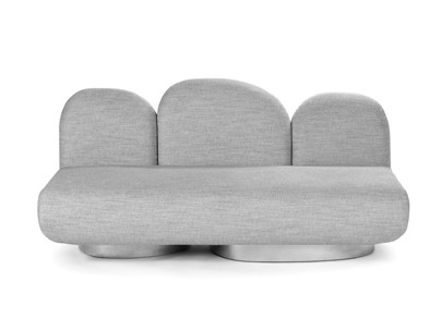 2-seat-sofa without armrest gijon grey Destroyers Builders