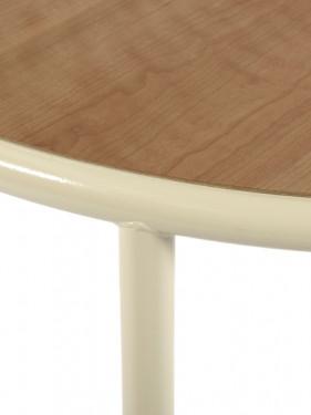 WOODEN TABLE ROUND IVORY / CHERRY Muller Van Severen