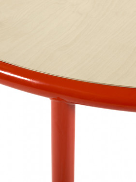 WOODEN TABLE OVAL RED / BIRCH Muller Van Severen