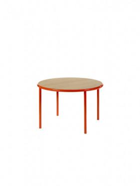 WOODEN TABLE ROUND RED / OAK Muller Van Severen