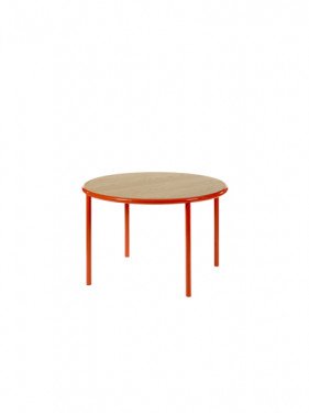 WOODEN TABLE ROUND RED / OAK Muller Van Severen