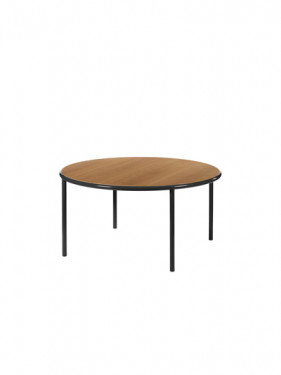 WOODEN TABLE ROUND BLACK / CHERRY Muller Van Severen