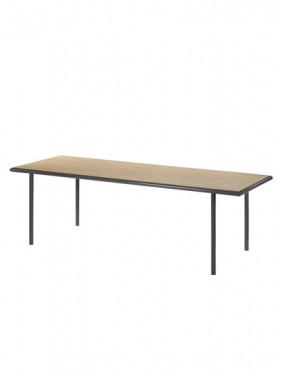 WOODEN TABLE RECTANGULAR BLACK / OAK XL Muller Van Severen