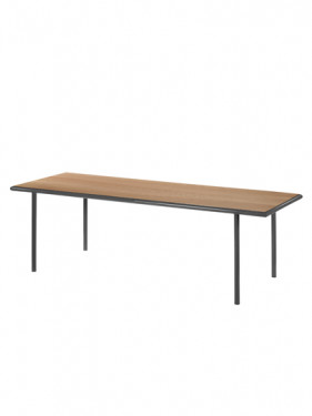 WOODEN TABLE RECTANGULAR BLACK / CHERRY Muller Van Severen