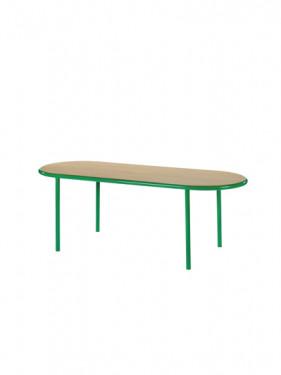 WOODEN TABLE OVAL GREEN / OAK Muller Van Severen