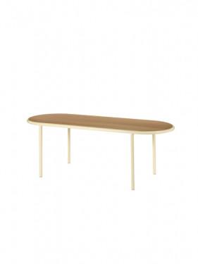 WOODEN TABLE OVAL IVORY / CHERRY Muller Van Severen